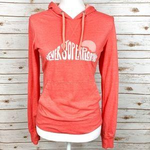 North Face Orange Hooded Sweatshirt w/ Pockets S/P